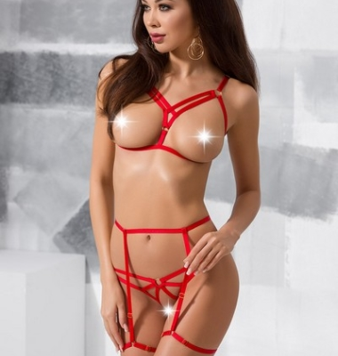 Magali Set L/XL red