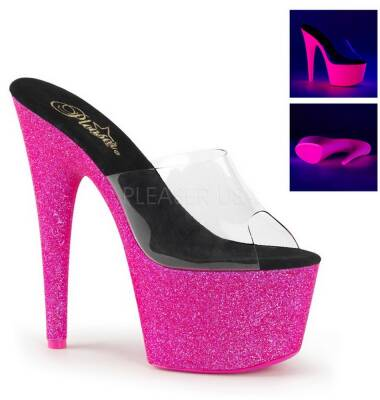 Adore-701UVG/C/NHPG rozm. 6 clear/neon pink glitter